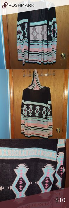 Tribal cardigan Has a striped hood. Very cute Rue 21 Sweaters Cardigans