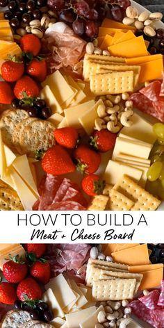 How to Build a Meat and Cheese Board with Cabot + Giveaway - The Little Kitchen Cheese And Cracker Platter, Meat And Cheese Tray, Cheese Platter Board, Snack Platter, Party Food Platters, Cheese Boards, Cheese And Crackers, Cheese Party Trays, Cheese Fruit Platters