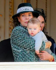 #New Princess Caroline of Hanover with two of her three youngest grandchildren, Maximilian Casiraghi (7 months old) and Francesco Casiraghi…