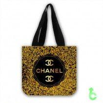 Chanel Elegant Gold Sparkling Tote Bags