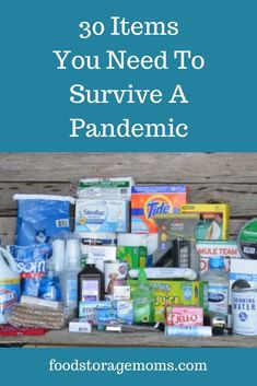 30 Items You Need To Survive A Pandemic. If the stores in your community shut down unexpectedly, are you prepared with these few items? 30 Items You Need To Survive A Pandemic - Food Storage Moms Emergency Preparedness Kit, Emergency Preparation, Survival Prepping, Survival Gear, Survival Skills, Survival Quotes, Survival Hacks, Survival Shelter, Survival Weapons