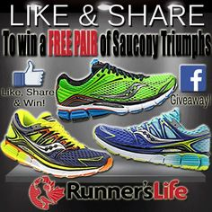 Check out this amazing promotion. Find us Facebook, Like, Share and WIN a new pair of Saucony Triumphs!