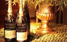 Moët & Chandon bottles studded with Swarovski crystals  WEDDING AWARDS YES WEDDING MAGNUM JEROBOAM Conceição Bem-casados
