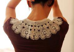 Large Russian bobbin lace handmade collar por everlacing en Etsy