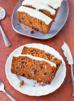 Carrot Cake Loaf with Cream Cheese Frosting averiecooks.com
