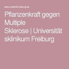 Pflanzenkraft gegen Multiple Sklerose Universitätsklinikum Freiburg