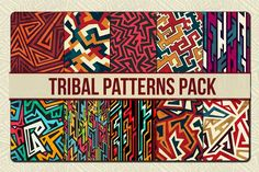 Tribal Patterns Pack by Gudiny on @creativemarket