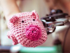These Cute PIG Bike Hand Warmers will make a perfect warm accessory. They are soft and cozy and they are one of those items that you just dont want