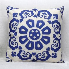 6.39$  Buy now - http://diyom.justgood.pw/go.php?t=170796201 - High Quality Flower Pattern Square Shape Synthesis of Linen Pillow Case???Without Pillow Inner??? 6.39$