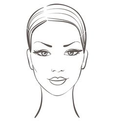 Woman face vector on VectorStock®