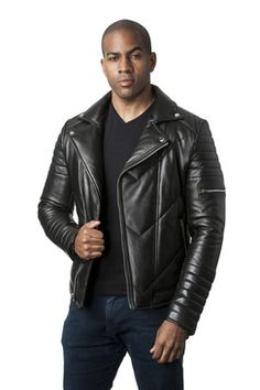 90f4ee847b39 Shop for Mason & Cooper Men's Leather Jacket. Get free delivery at Overstock  - Your Online Men's Clothing Shop!
