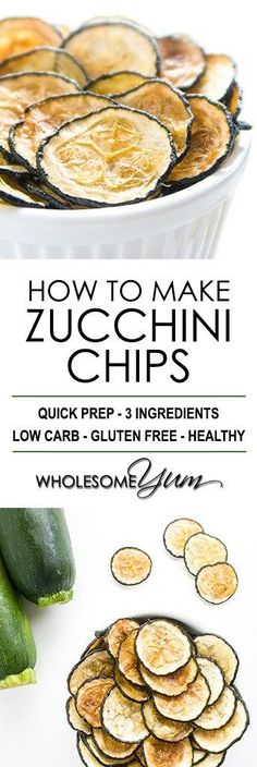 How To Make Zucchini Chips - Baked Zucchini Chips Recipe - This baked zucchini chips recipe is so easy! Learn how to make zucchini chips with just 3 ingredients. Naturally low carb, gluten-free, and paleo.