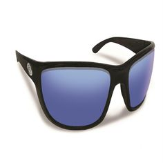 Flying Fisherman Cay Sal Black-Smoke Blue Mirror Sunglasses