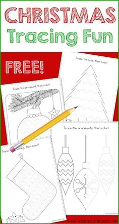 This Christmas Theme Tracing Fun printable set is great for Tot School, Preschool and Kindergarten. Work on fine motor skills while tracing a Christmas tree, stocking, Santa, and more fun Christmas activity pages. - Education and lifestyle Christmas Activities For Kids, Preschool Christmas, Christmas Themes, Kids Christmas, Winter Activities, Toddler Preschool, Preschool Activities, Stocking Tree, Homeschool Kindergarten