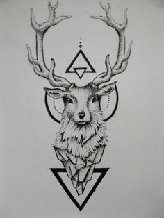 Deer Tattoo by duDuArte