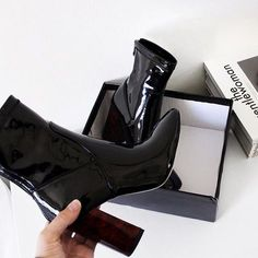 New Stylish Women Winter Over The Knee Boots Thin High Heels Boots Sexy 2019 Black Ankle Boots, High Heel Boots, Heeled Boots, Shoe Boots, Shoes Heels, Dress Boots, Pretty Shoes, Cute Shoes, Me Too Shoes