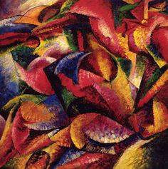 Dynamism of a Human Body - Umberto Boccioni hand-painted oil painting reproduction,Futurism Art,Lobby Large Modern Vibrant Abstract Wall Art Claude Monet, William Turner, Umberto Boccioni, Futurism Art, Michelangelo, Oil Painting Reproductions, Canvas Artwork, Painting Canvas, Great Artists