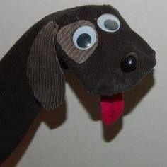 Diy Sock Toys, Sock Crafts, Glue Crafts, Kids Crafts, Sock Puppets, Shadow Puppets, Hand Puppets, How To Make Socks, Puppets For Kids