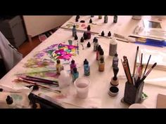 alcohol ink, drips, Dots and Drops - YouTube
