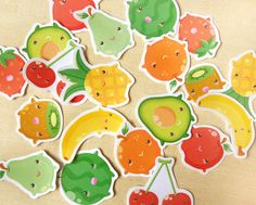 Cute Fruits Planner Sticker Pack of 30 - Kawaii Summer Food Fruits Shopping Stickers, Calendar Markers, Planner Supply, Erin Condren Sticker - Thumbnail 1