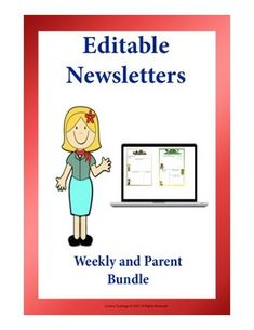 Editable Newsletter: Weekly and Parent Bundle Weekly Newsletter Template, Parent Newsletter, Teaching Resources, Classroom Resources, Teaching Ideas, Classroom Ideas, Teaching Activities, School Classroom, Primary Classroom