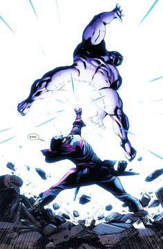 Star-Lord vs Thanos by Brad Walker