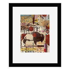 Folk art and sophistication blend in this print of mixed-media artist Dolan Geiman's stunningly original work. Dolan Geiman, Modern Art Prints, Mixed Media Artists, Rocky Mountains, Framed Wall Art, Folk Art, Concept Art, Contemporary Art, Vintage World Maps