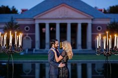 Hall of Springs Fall engagement photos with candles in Saratoga NY