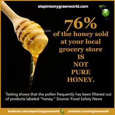 ☛ Do YOU eat honey? Make sure you get the real thing.  One of the best honey available today is Manuka Honey.  FOR ALL YOU NEED TO KNOW ABOUT MANUKA HONEY:  http://www.stepintomygreenworld.com/greenliving/greenfoods/potency-and-extraordinary-healing-benefits-of-manuka-honey/  ✒ Share | Like | Re-pin | Comment