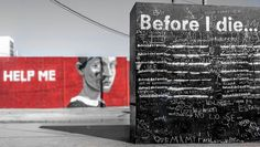 Before I Die Project by Candy Chang