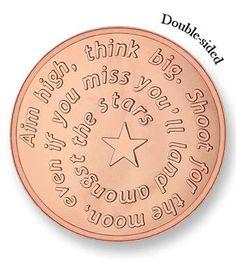 Mi Moneda Large Rose Gold Plated Aim High / Pistol Coin from Michael Jones Jeweller