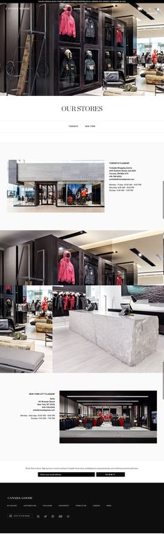 canada goose store page