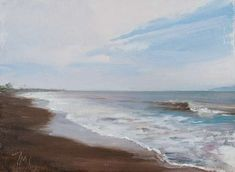 daily painting titled Deserted beach near Padangbai - click for enlargement