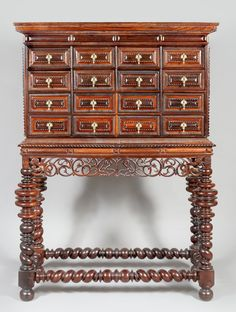 An Indo-Portuguese cabinet, century Gothic Furniture, My Furniture, Cabinet Furniture, Antique Furniture, Italian Renaissance, Antwerp, 16th Century, Antiques, Sculptures