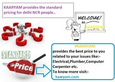 Check kaaryam , if you need best price for our daily home services, Go To :  www.kaaryam.com