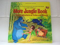 DISNEYLAND RECORD and Book More Jungle Book 1969 Disney Children LP Album Music by thethriftygal on Etsy