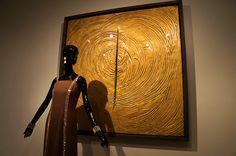 """""""Venice Was All in Gold"""". Lucio Fontana. Exposición Hubert de Givenchy. Museo Thyssen Bornemisza de Madrid. #Arte #Moda #Arterecord 2014 https://twitter.com/arterecord"""