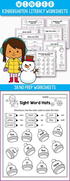 Preschool, kindergarten and even first grade students will love this color by sight word practice worksheets. Learning CVC words through is fun and very easy with these printable activities.
