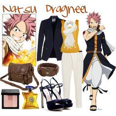 || Natsu Dragneel ~ Fairy Tail || by miyu-san on Polyvore featuring moda, ONLY, Zeus+Dione, Miu Miu, VIPARO, HTC, Charlotte Russe, Bobbi Brown Cosmetics and Bond No. 9