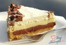Czech Desserts, Greek Desserts, Cakes Plus, Czech Recipes, Sweets Cake, Sweet And Salty, No Bake Cake, Sweet Recipes, Cookie Recipes