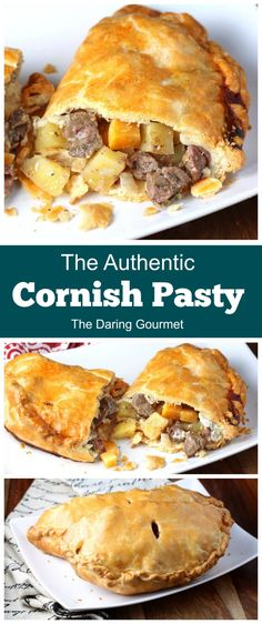 Shortcrust pastries filled with savory beef and vegetables, this is a thoroughly authentic Cornish Pasty recipe for Cornwall's famous national dish! Pie Recipes, Cooking Recipes, Recipies, Gourmet Dinner Recipes, Easy Cooking, Cooking Ideas, Food Ideas, Cornish Pasties, Cornish Pie
