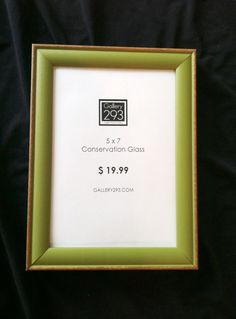 5 x 7 Custom Picture Frame  Distressed Avocado Green by Gallery293, $19.99