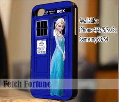 Disney Frozen Elsa On Tardis Doctor Who iPhone by FetchFortune, $14.87