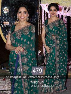 Net Saree with Sequins Work