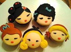 Cute girl faced cupcakes