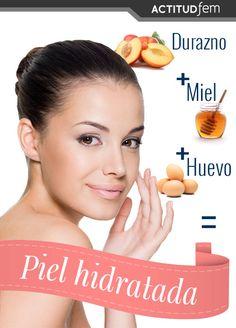 1 durazno grande maduro + 1 cucharada de miel + Si tu pie les grasa: 1 clara de huevo o Si tu piel es seca: 1 yema de huevo = Piel suave e hidratada