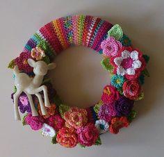 My rainbow wreath