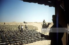A view as chairs are set up for the 376th Bombardment Group at the U.S Air Force Base in Benghazi, Libya.