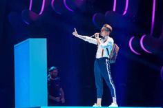 Mikolas Josef performs at Eurovision 2018 - Dress Rehearsals in Lisbon, Portugal 180507 Rehearsal Dress, Lisbon Portugal, Smart People, Watch V, Concert, My Love, Boys, Crushes, Stars