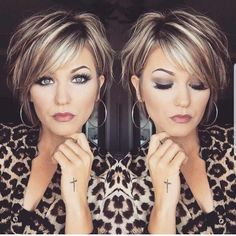 Short Layered Hair Style - 60 Classy Short Haircuts and Hairstyles for Thick Hair - The Trending Hairstyle Short Hair With Layers, Short Hair Cuts, Short Hair Styles, Hair Short Bobs, Highlights For Short Hair, Layered Short Hair, Curly Short, Short Sassy Haircuts, Short Hairstyles For Women